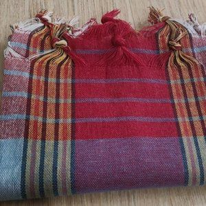 "Turkish Peshtemal 100% Cotton 30""x60"" Beach Towel"